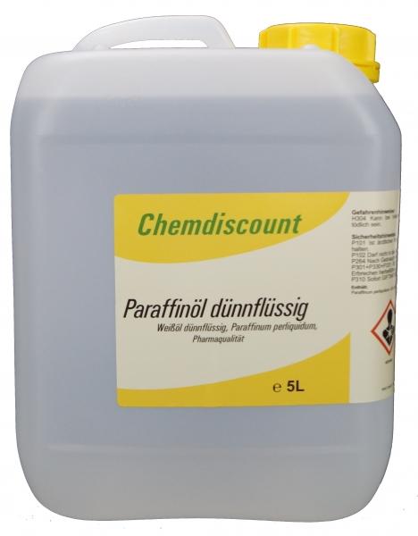 5Liter Paraffinöl dünnflüssig, (Paraffinum Perliquidum, Vaselineöl), Qualität entspr. PH. EUR