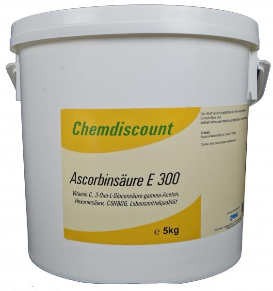 5kg Ascorbinsäure (Vitamin C) in Lebensmittelqualität E300